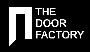 The door Factory Logo_The Door Factory Logo White